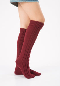 Wool legs leg warp knit Christmas boots over the knee diagonal 8 pattern twist floor socks
