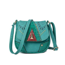 Load image into Gallery viewer, Boho Fashion Mini PU Rivet Shoulder Bag