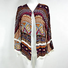 Load image into Gallery viewer, Boho Style Summer Long Sleeve Blouses Beach Cover-ups