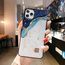 Load image into Gallery viewer, Chic Marble Gold Foil Phone Cases for iPhone 12 11 Pro Max XR X 8 7 Plus Glitter Soft Silicone Cover for iPhone XS Max SE 2020
