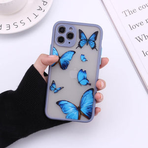 Cute 3D Relif Butterfly phone case for iphone 11 Pro Max XR XS MAX case silicone for iphone 7 8 Plus 12 pro max cover