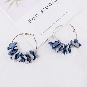 Earrings For Women Flower Petals Colorful Fashion Pop Simple Sexy Glamour Dangler Eardrop Charm