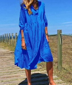 Fashion Women Summer Long Dress Print Causal Boho  Lady Plus Sundress Beach Dresses