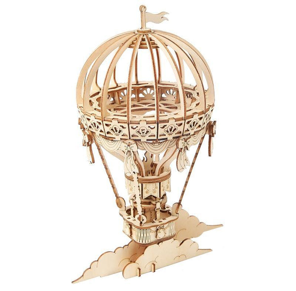 Wooden 3D assembled creative DIY puzzle - Hot Air Ballon