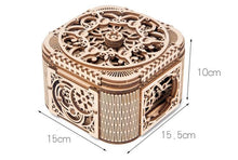 Load image into Gallery viewer, Wooden 3D assembled creative DIY puzzle - 3D Jewelry Box