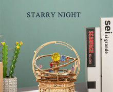 Load image into Gallery viewer, Wooden 3D assembled creative DIY puzzle - Starry Night Music Box