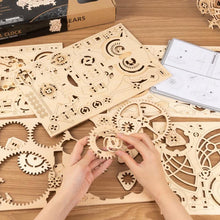 Load image into Gallery viewer, Wooden 3D assembled creative DIY puzzle - Owl Clock