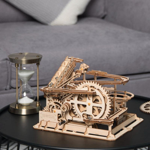 Wooden 3D assembled creative DIY puzzle - Waterwheel Wooden Model Building