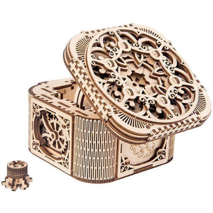 Wooden 3D assembled creative DIY puzzle - 3D Jewelry Box