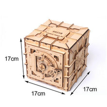 Load image into Gallery viewer, Wooden 3D assembled creative DIY puzzle - 3D password box