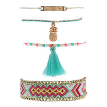 Load image into Gallery viewer, Fashion Tassel Bracelet Colorful Braided Bohemian Bracelets Set