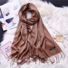 Load image into Gallery viewer, Winter Solid Color Warm Long Imitation Cashmere Shawls Scarf