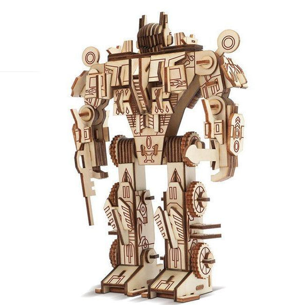 Wooden 3D assembled creative DIY puzzle - Robot Model