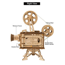 Load image into Gallery viewer, Wooden 3D assembled creative DIY puzzle - Classic Film Projector