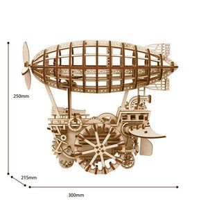 Wooden 3D assembled creative DIY puzzle - Air Vehicle