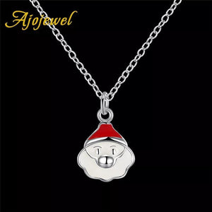 Christmas Jewelry Set Santa Claus Cute Earrings Necklace Kit