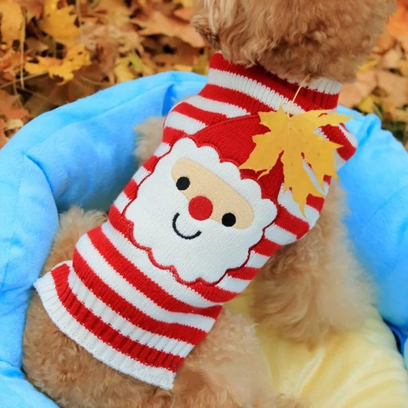 Reindeer Santa Claus Pet Dog Cat Sweater Christmas Warm Puppy Clothes Coat Costume