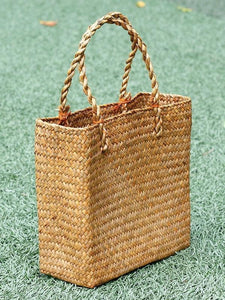 Creative Handbag Rattan Tote Bag New Straw Bag Weave Grass Bag Rattan Bag