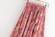 Load image into Gallery viewer, Retro Printed Bohemia Falbala Skirt Bottoms