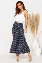 Load image into Gallery viewer, High Waist Bodycon Skirt Autumn Sexy Slim Slimming Wave Dots Midi Skirt