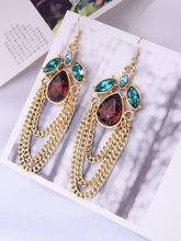 Load image into Gallery viewer, Vintage Retro Water Drops Tassel Earrings Simple Wild Earrings for Evening Party