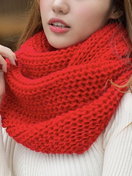 Solid Color Fashion 10 Colors Knitting Cape Scarf