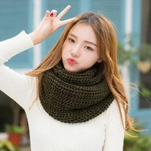 Load image into Gallery viewer, Solid Color Fashion 10 Colors Knitting Cape Scarf