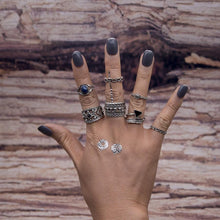 Load image into Gallery viewer, 7pcs BOHO ring set bohemia style Retro alloy ring