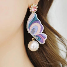 Load image into Gallery viewer, Fashion Butterfly retro earrings handcrafted wrap jewelry for party
