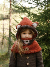 Load image into Gallery viewer, Children Hat Autumn And Winter Cloak Mask Fox Wool Hat Shawl Warm Ear Protectors
