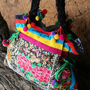 Vintage Ethnic Style Floral Embroidery Shoulder Bag type 2