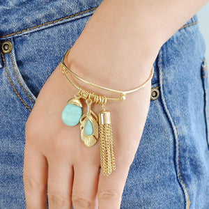 Gem tassel bracelet Bohemia style party