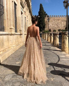 Elegant Sleeveless Backless Evening Maxi Dress