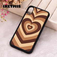 Load image into Gallery viewer, Soft Silicone Latte Love Coffee Heart phone cover cases for iphone 7 8 Plus X Xs Max XR 11 12 MINI Pro