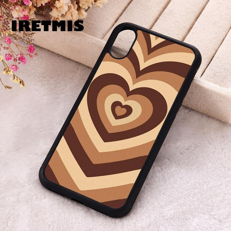 Soft Silicone Latte Love Coffee Heart phone cover cases for iphone 7 8 Plus X Xs Max XR 11 12 MINI Pro