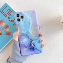 Load image into Gallery viewer, Vintage Marble Phone Case For iPhone 11 Pro Max X XR XS Max 12 Mini 7 8 Plus Luxury Fundas Camera Protection Back Cover