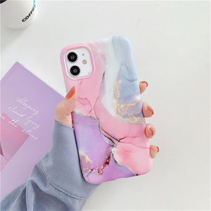 Vintage Marble Phone Case For iPhone 11 Pro Max X XR XS Max 12 Mini 7 8 Plus Luxury Fundas Camera Protection Back Cover