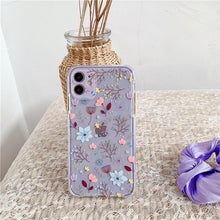 Load image into Gallery viewer, Luxury 3D Relief Flower Case For iPhone 12 Mini 11 Pro Max X XR XS Max 7 8 Plus Soft Bumper Transparent Matte PC Back Cover