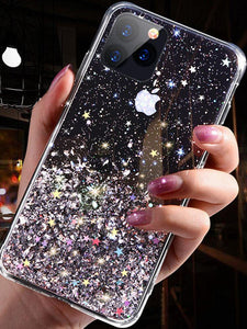 Luxury Bling Glitter Phone Case For iPhone 12 MINI 11 Pro X XS Max XR Silicon Cover For iPhone SE 2020 7 8 Plus Back cover