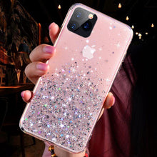 Load image into Gallery viewer, Luxury Bling Glitter Phone Case For iPhone 12 MINI 11 Pro X XS Max XR Silicon Cover For iPhone SE 2020 7 8 Plus Back cover