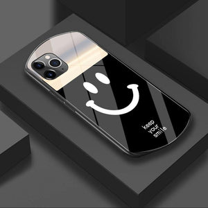 Luxury Cute Oval Heart-shaped Tempered Glass Phone Case For iPhone 12 11 Pro Max XSmax XR X SE 8 7 6 Plus Mirror Silicone Cover