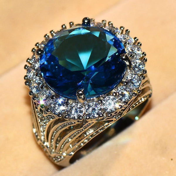 Female Big Blue Stone Ring