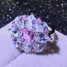 Load image into Gallery viewer, Luxury Female Big Pink Stone Ring