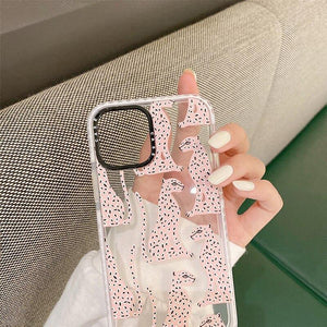 Luxury brand leopard print Transparent non-slip Soft Silicon phone Case for iphone 12 MiNi 7 8 X XS XR MAX 11 Pro Plus 6S cover