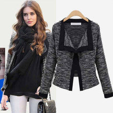 Load image into Gallery viewer, Women Slim Fit Blazer Jacket Patchwork Small Suit Casual Long Sleeve Cardigan Work Outwear Coat