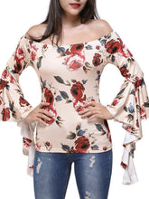Load image into Gallery viewer, Sexy horn with a shoulder print slim long-sleeved shirt