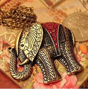 Fashion Western vintage elephant necklace jewellery Sweater Chain