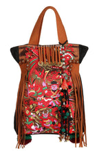Load image into Gallery viewer, National style retro embroidery one shoulder travel big bag female