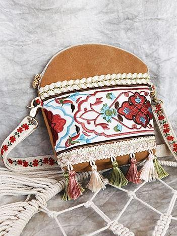 Holiday ethnic style retro embroidery Sen small crossbody bag