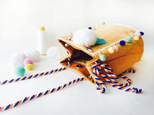 Load image into Gallery viewer, Cute tassel one shoulder slung fabric bucket pouch
